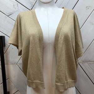 NWT Banana Republic Gold Shimmery Cardigan